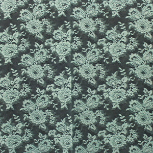 Rose Floral Chantilly Lace - Aqua
