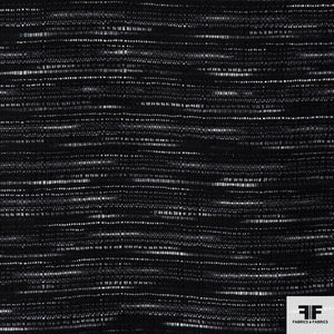Striped Wool Tweed - Black/Silver