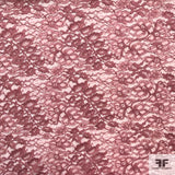Double Scalloped Leavers Lace - Mauve Rose - Fabrics & Fabrics NY