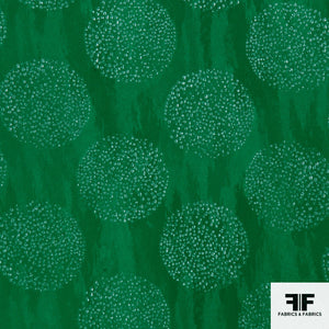 Italian Novelty Silk fabric - Green