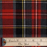 Plaid Wool Suiting - Red/Black