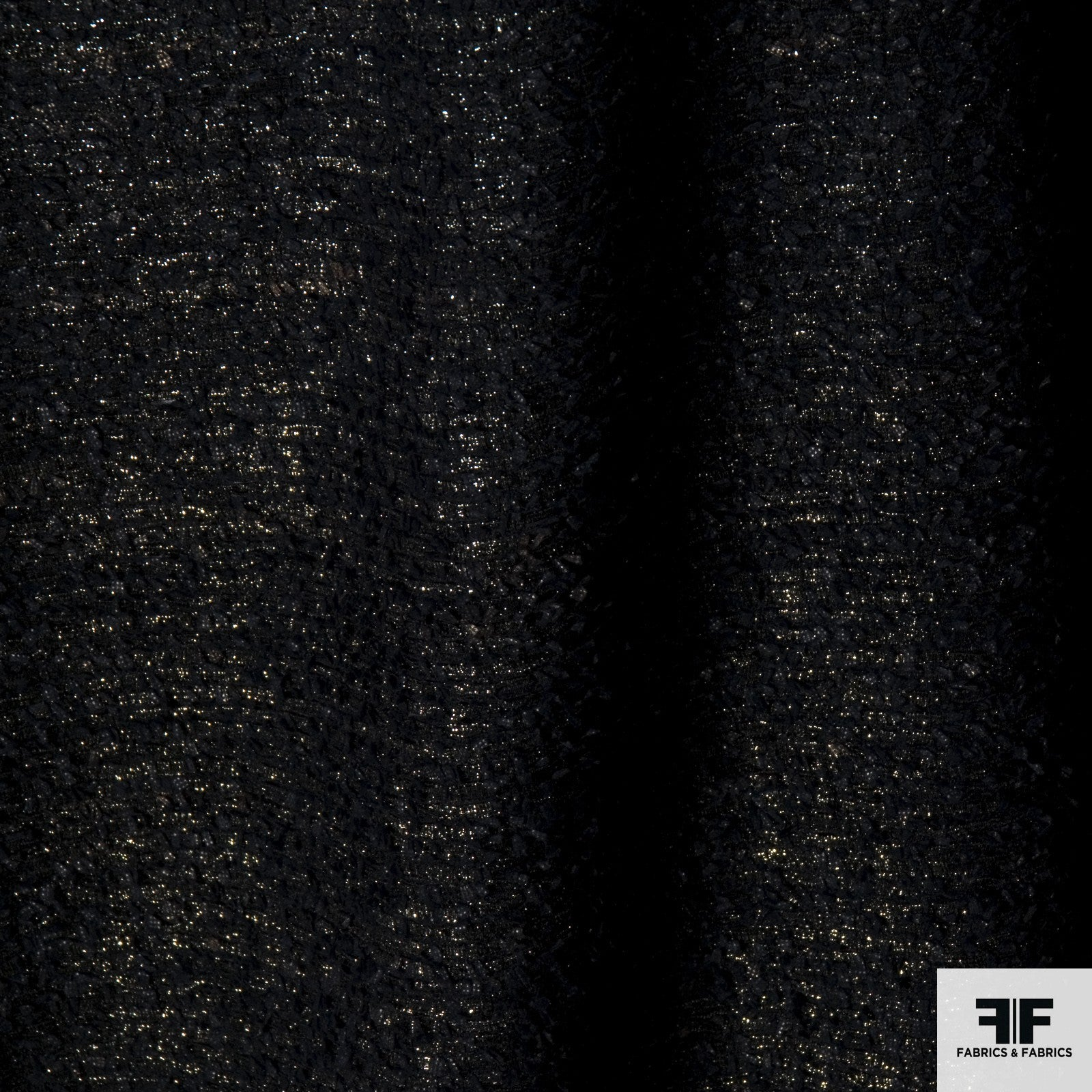 Metallic Wool Tweed - Black