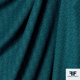 Textured Cotton Blend Suiting - Teal