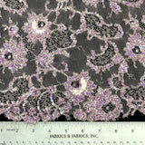 Floral Embellished Lace - Pink/Purple