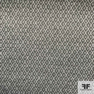 Diamond Patterned Printed Knit - Grey/Black - Fabrics & Fabrics NY