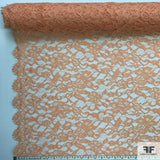 Double Scalloped Leavers Lace - Pale Orange - Fabrics & Fabrics NY