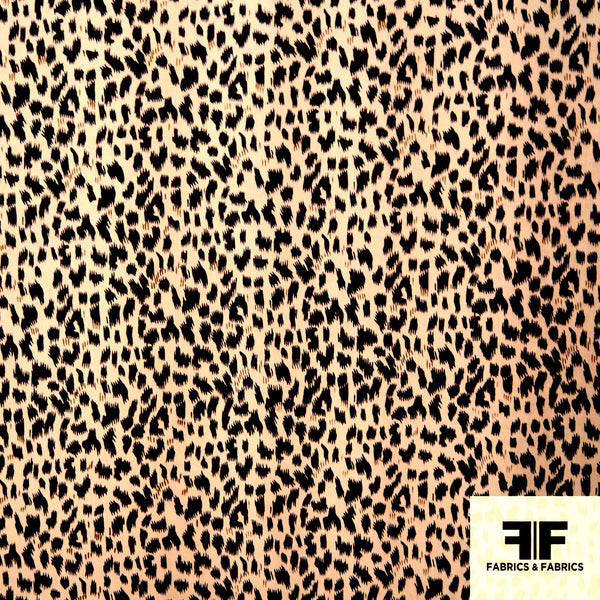 Animal Print Silk Charmeuse - Brown/Tan - Fabrics & Fabrics NY