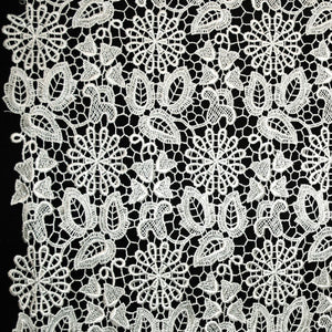 Floral Guipure Lace - Silver
