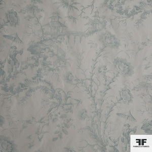 Creamy White/Green Floral Novelty fabric