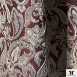 Metallic Paisley Brocade - Burgundy/Gold