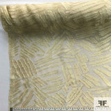 Abstract Chiffon Burnout - Beige - Fabrics & Fabrics NY