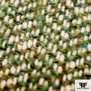 Herringbone Wool Tweed - Green