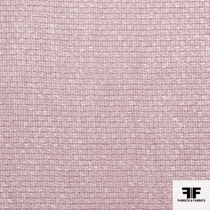 Basket Weave Cotton Suiting - Pink
