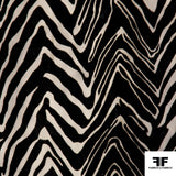 Zebra Print Burnout Velvet - Black