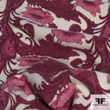 Floral Wool Crepe - Fuchsia/Pink/Cream
