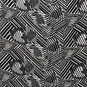 Abstract Panné Velvet - Black/White - Fabrics & Fabrics NY