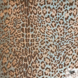Metallic Cheetah Brocade - Copper/Orange/Gold