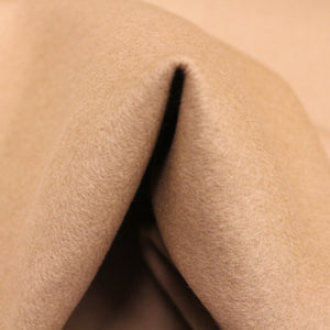 Double-Faced Wool Coating - Light Brown - Fabrics & Fabrics NY