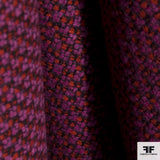 Wool Tweed - Fuchsia/Red/Black