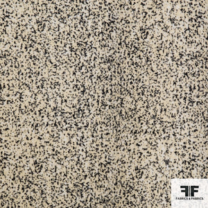 Speckled Printed Wool - Cream/Black