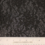 Floral Novelty Lace fabric - Black