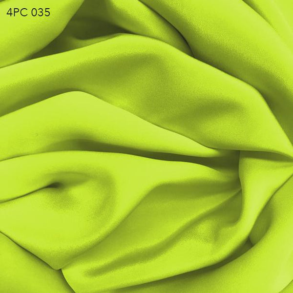 4 Ply Silk Crepe - Yellow Green - Fabrics & Fabrics NY