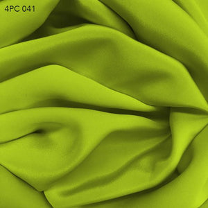 Acid Lime Green 4 Ply Silk Crepe - Fabrics & Fabrics