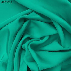Aquarium Green 4 Ply Silk Crepe - Fabrics & Fabrics