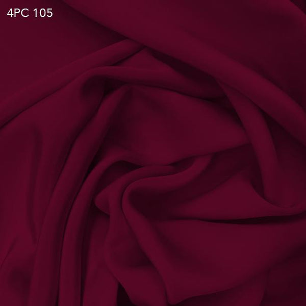 4 Ply Silk Crepe - Red Wine - Fabrics & Fabrics NY