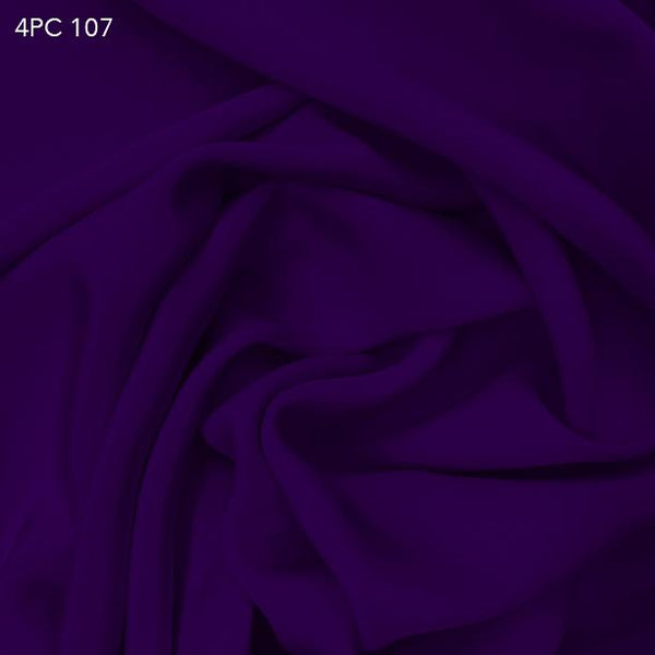 4 Ply Silk Crepe - Royal Purple - Fabrics & Fabrics NY