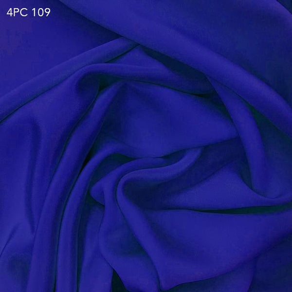 4 Ply Silk Crepe - Royal Blue - Fabrics & Fabrics NY