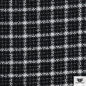 Plaid Italian Suiting - Black/White
