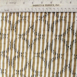 Novelty Woven Cotton fabric - Beige/White