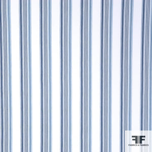 Striped Cotton Denim - Blue/White
