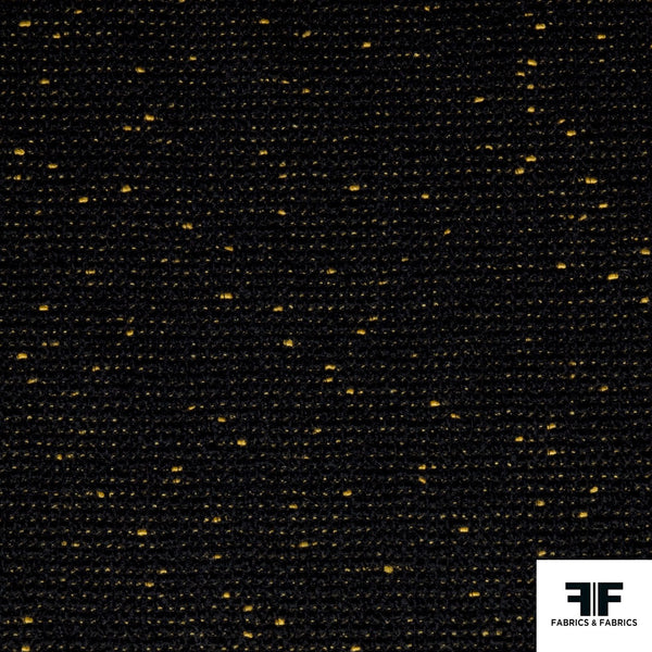 Wool Tweed - Black/Gold