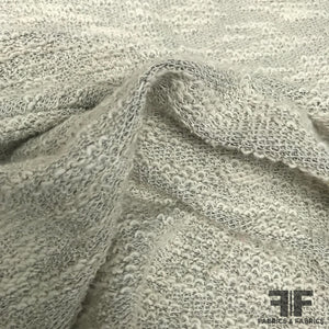 Textured Wool Blend Knit - Grey