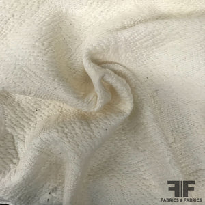 Textured Wool Coating - White