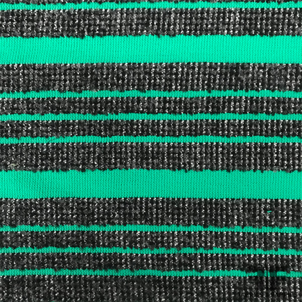 Italian Striped Wool Knit - Green/Black
