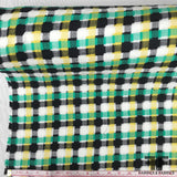 Novelty Italian Plaid Cotton Suiting - Green/Yellow