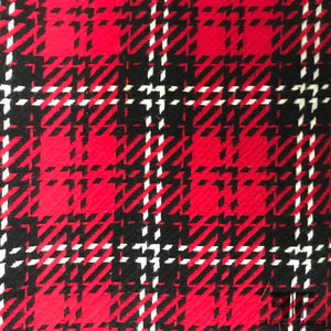Bold Plaid Wool Coating - Red/Black