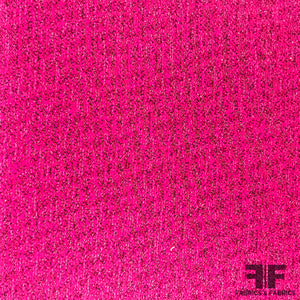 Italian Suiting with Lurex - Hot Pink/Metallic Pink