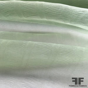 Novelty Pleated Organza - Light Green