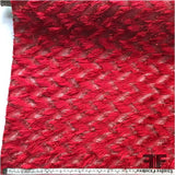 Novelty Eyelash Fringe Organza - Red
