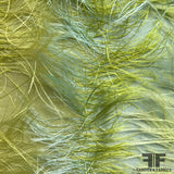 Fringe Novelty Silk - Green/Blue