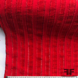 Italian Novelty Stripe - Red