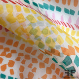 Abstract Printed Silk Organza - Multicolor - Fabrics & Fabrics NY
