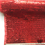 Sequined Chiffon - Red - Fabrics & Fabrics