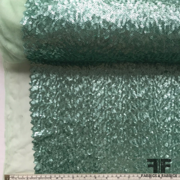 Sequined Tulle - Mint