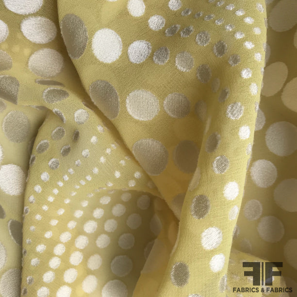 Polka Dot Burnout - Chartreuse/White