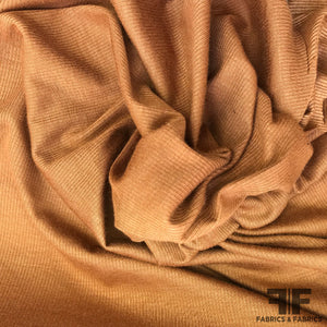 Featherweight Rib Knit - Light Brown